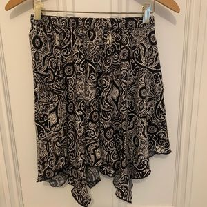 Abercrombie & Fitch black/cream floral skirt small